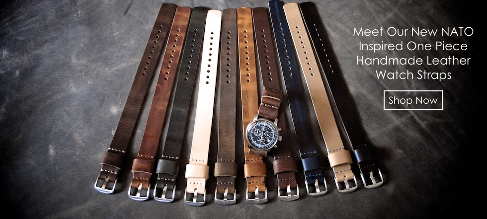 NATO One Piece handmade leather watch straps
